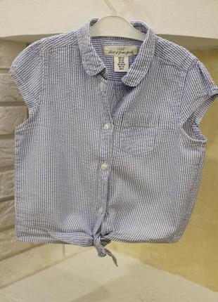 Стильная рубашка топ на рост 128см