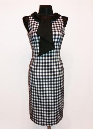 Суперцена. стильное платье с галстуком, клетка. турция. новое,...