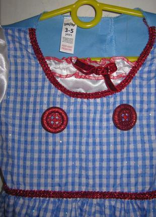 Платье карнавальное,3-5лет