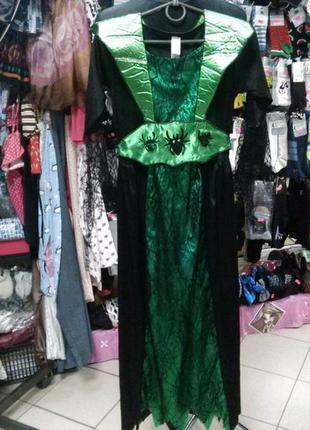 Платье злой королеви,11-13лет,рост 146-158см