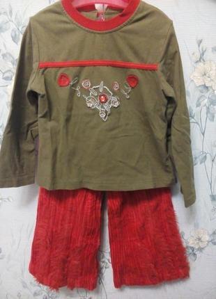 Комплект для девочки : штаны + кофта.