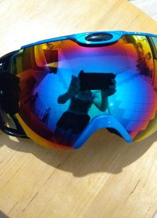 Горнолыжная маска синяя Лыжные очки для взрослых и подростков