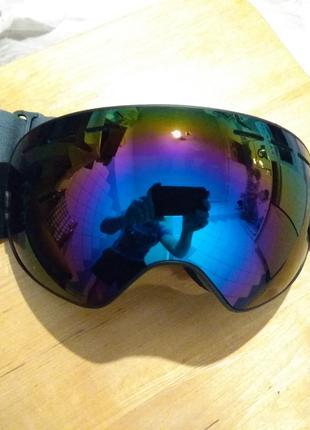 Горнолыжная маска AoFuson черная Лыжные очки