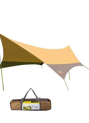 Тент GreenCamp песочный (560х500х250см.)