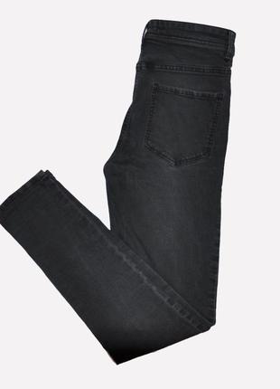 Черно-серые джинсы скинни
