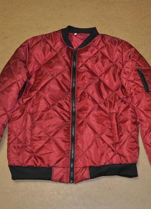 Мужская куртка дутый бомбер с кармном