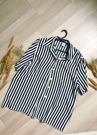 Вискозная рубашка c&a полосатая в винтажном стиле