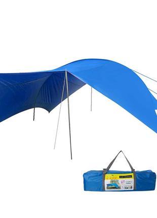 Тент GreenCamp синий (510х610х265см.)