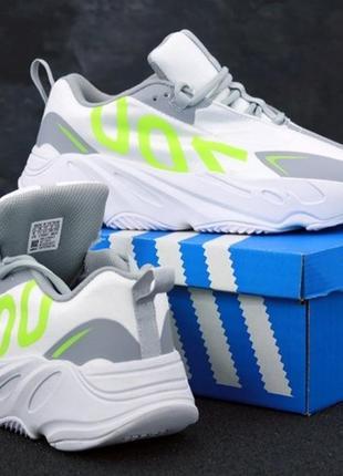 Мужские кроссовки adidas yeezy boost 700 white.