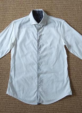 Armani jeans рубашка slim fit оригинал (m)