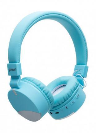 Беспроводные Bluetooth наушники Gorsun GS-E86 Micro SD Голубой с