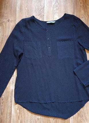 Легкая блуза в мелкий горошек tu