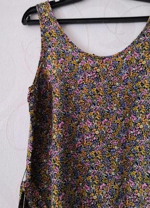 Короткое платье-туника с цветочным принтом