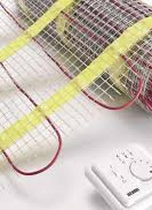 Нагрiвальний кабель в стяжку та мати пiд плитку