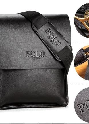 Мужская стильная сумка через плечо videng polo. сумка-мессендж...