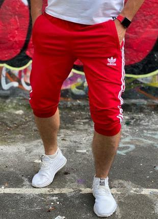 Мужские трикотажные бриджи на манжете адидас, adidas, шорты,ту...