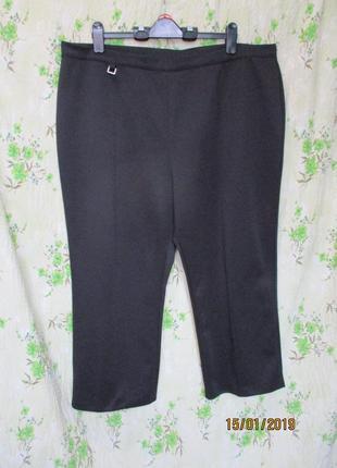 Чёрные штаны бриджи стрейчевые большого размера uk 26/наш 58-60