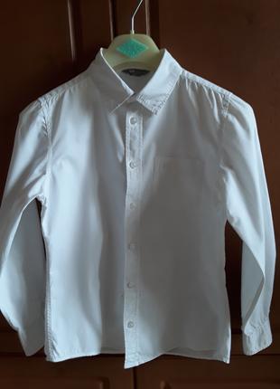 Рубашка белая школьная на мальчика