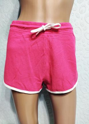 Женские спортивные шорты, розовые шорты с лампасами