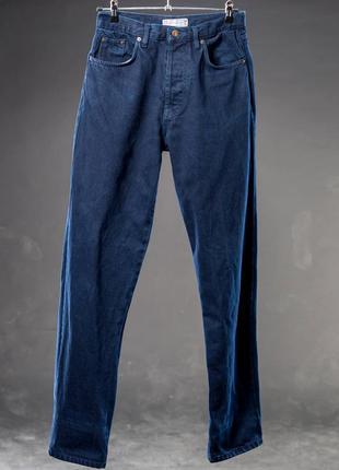 Yves saint laurent. джинсы синие мужские теплые.