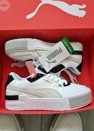 Puma cali sport mix white/black