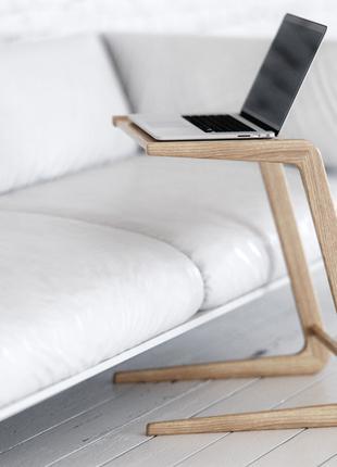 Кофейный столик приставной деревянный. Стол для ноутбука