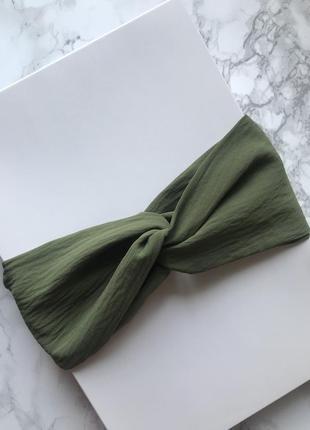 Широкая фактурная повязка на голову/для волос/ободок/тюрбан