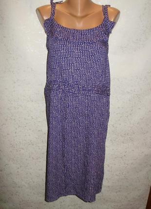 Красивое вискозное платье в принт на завязках штапель 20/54-56...