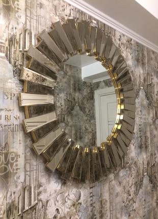 Зеркало дизайнерское круглое 85см