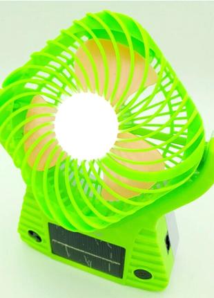 Настольный портативный вентилятор с солнечной панелью Solar