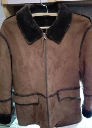 Куртка,искусст.замша с мехом.Размер 50-52