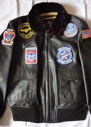 "куртка мужская кожаная  ""Top Gun""."