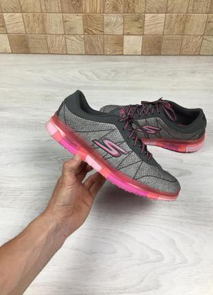 Крутые фирменные яркие кроссовки skechers go flex walk - pink ...