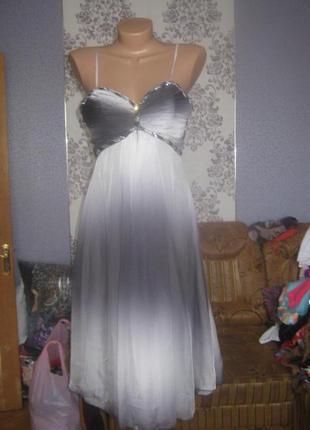 Красиве шифонове плаття з бісером,розмір l