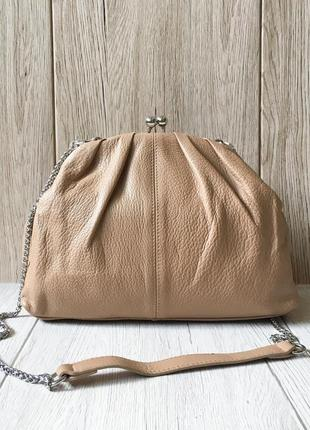 Кожаная сумочка - клатч polina&eiterou