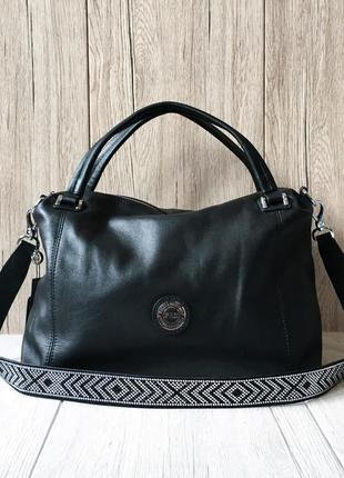 Женская большая кожаная сумка шоппер  polina & eiterou