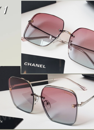 Шикарные очки chanel  женские солнцезащитные