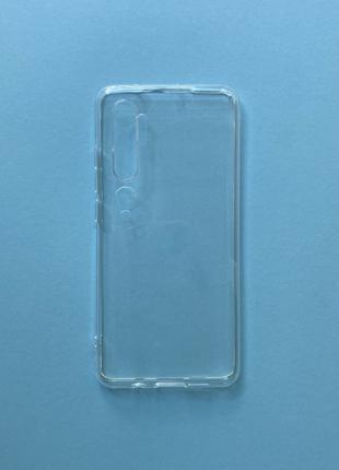 Чехол Mi note 10 прозрачный