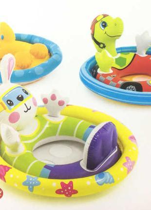 Intex Детский надувной плотик-райдер, 3 вида от 3-4лет