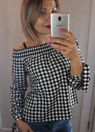 Женская коттоновая блуза new look