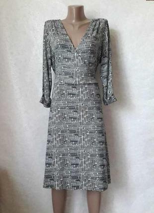 Фирменное next  платье миди (верх на запах) на 97 % вискоза с ...
