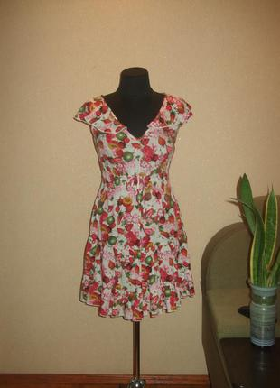 Оригинальное платье с фруктовым летним принтом в стиле  dolce&...
