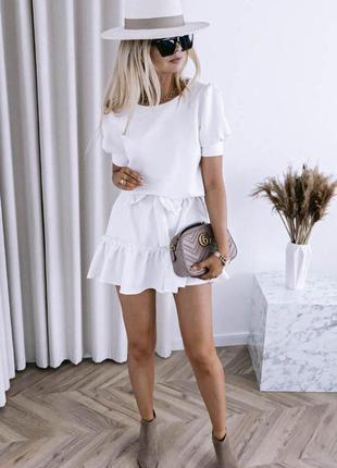 Красивое легкое короткое платье