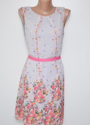 Летнее платье в цветочный принт