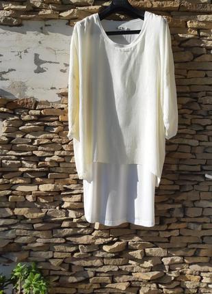 Супер стильное вискозное платье туника большого размера