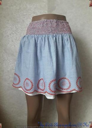 Фирменная john lewis летняя хлопковая юбка в морскую тематику ...