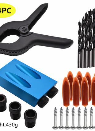 Кондуктор-набор из 34 элементов для сверления под косой шуруп