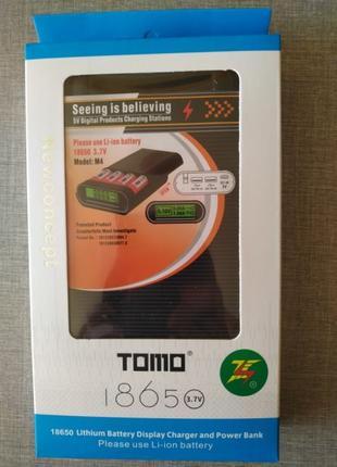Tomo V8-4 Power bank зарядное 2 в 1 для аккумуляторов 18650