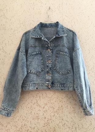 Куртка джинсова джинсовка с лампасами