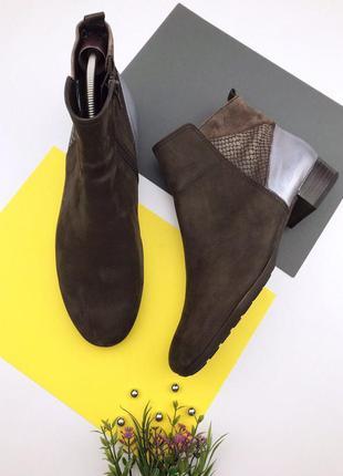 Кожаные демисезонные ботинки gabor